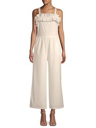 Lucca Couture Gia Ruffle Trimmed Jumpsuit White