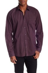 Velvet By Graham And Spencer Solid Color Button Front Long Sleeve Classic Fit Shirt Purple