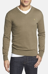 Victorinox 'Signature' Tailored Fit V Neck Sweater Online Only National Green