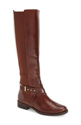 Women's Steven By Steve Madden 'Sydnee' Riding Boot Cognac Leather