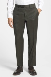 Duckie Brown Flat Front Wool Trouser
