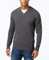 Barbour Men's Nelson Essential V Neck Sweater Charcoal