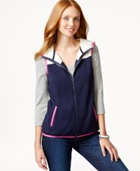 Tommy Hilfiger Hooded Contrast Vest And Tote Bag Gift Set Core Navy