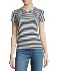 Theory Rodiona 2 Everyday Striped T Shirt Blue White