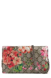 Gucci Women's Gg Blooms Supreme Canvas Wallet On A Chain