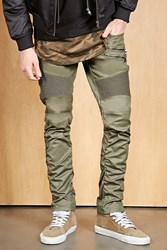 Forever 21 Victorious Skinny Moto Jeans Olive