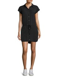 Paige Mila Button Down Shirt Dress Black