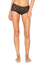 Only Hearts Club Stretch Lace Ruched Back Hipster Black