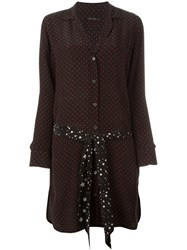 Equipment By Kate Moss Polka Dot Shirt Dress Black