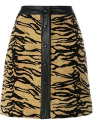 Adam By Adam Lippes Tiger Print Skirt Brown