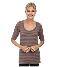 Lole Ada Top Oyster 2 Tones Women's Short Sleeve Pullover Gray