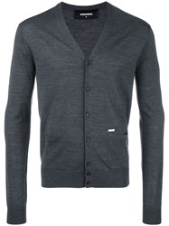 Dsquared2 Classic V Neck Cardigan Grey