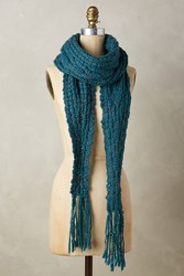 Anthropologie Renn Knit Scarf Blue Green