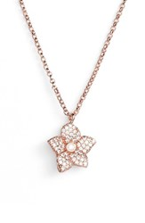 Kate Spade New York Blooming Pave Mini Pendant Necklace Rose Gold