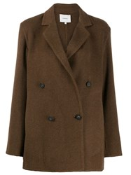 Vince Double Breasted Jacket Brown