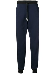Class Roberto Cavalli Tapered Jogging Trousers Blue