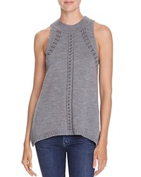 Ramy Brook Reya Beaded Sleeveless Sweater Gunmetal
