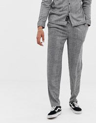 Native Youth Co Ord Checked Trousers Black