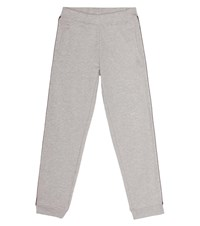 Little Marc Jacobs Cotton Jersey Trackpants Grey