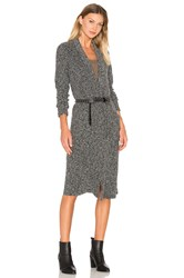 Bobi Rib Long Cardigan Charcoal