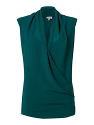 Linea Sleeveless Cross Over Top Green