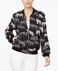 Inc International Concepts Tiger Print Bomber Jacket Only At Macy's Striped Tiger