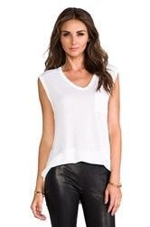 Alexander Wang Muscle T With Pocket White