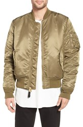 Alpha Industries Men's 'Ma 1' Slim Fit Bomber Jacket Vintage Olive