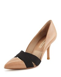 Stephanie Elastic Strap Pump Michael Kors Collection Toffee