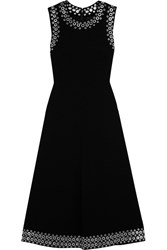 Alexander Wang Eyelet Embellished Crepe Midi Dress Black