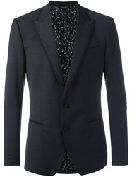 Dolce And Gabbana Fitted Blazer Grey