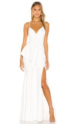 Katie May Arriba Dress In White. Ivory