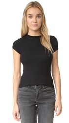 Atm Anthony Thomas Melillo Cap Sleeve Crew Neck Tee Black