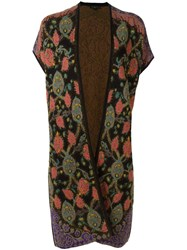 Etro Long Sleeveless Cardigan Black