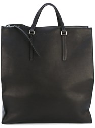 Rick Owens Edith Vertical Shopper Unisex Calf Leather Lamb Skin One Size Black
