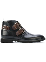 Dolce And Gabbana Buckled Boots Men Calf Leather Leather Rubber 41 Brown