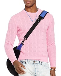 Polo Ralph Lauren Cable Knit Cashmere Sweater Pink
