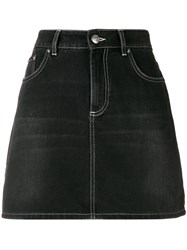 Ganni Mini Denim Skirt Black