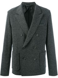 Lanvin Double Breasted Jacket Grey