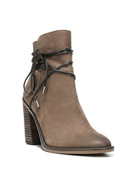 Franco Sarto Edaline Leather Lace Up Booties Tobacco