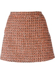 Victoria Beckham Denim Tweed Mini Skirt Black