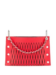 Sonia Rykiel Double Pouch Shoulder Bag Red