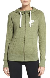 Nike Women's 'Gym Vintage' Front Zip Hoodie Palm Green Sail