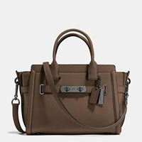 Coach Swagger 27 In Glovetanned Leather Dk Fatigue