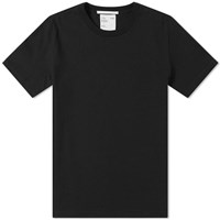 Helmut Lang Embroidered Small Logo Tee Black