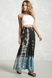 Forever 21 Contemporary Ombre Maxi Skirt Charcoal Blue