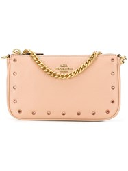 Coach Rivets Clutch Pink