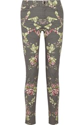 Mcq By Alexander Mcqueen Printed High Rise Skinny Jeans Black