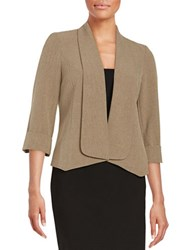 Nipon Boutique Textured Open Front Jacket Mink Black
