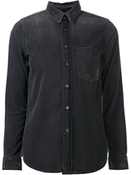 Mother 'Foxy' Denim Shirt Grey